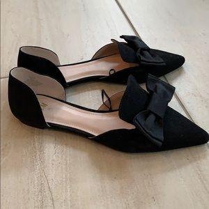 H&M black bow flats size 38